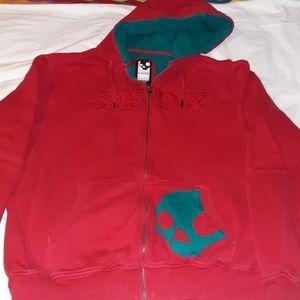 Skullcandy Zip Up Hoodie Sweatshirt Hidden Pocket